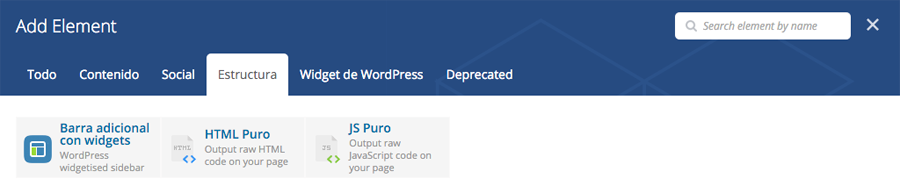 Añadir otra sidebar en una página con Visual Composer