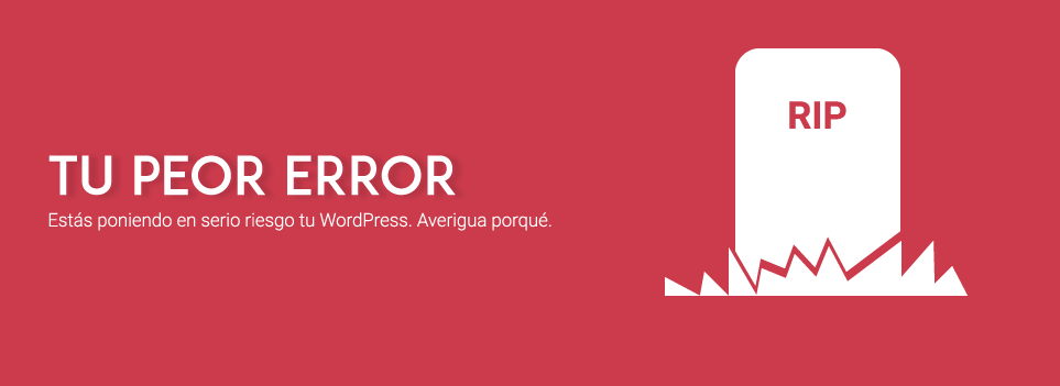 Error grave en WordPress