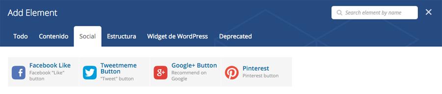 Cómo añadir botones de redes sociales con Visual Composer