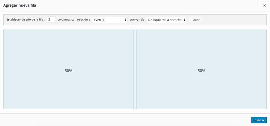 En Page Builder puedes trabajar con columnas