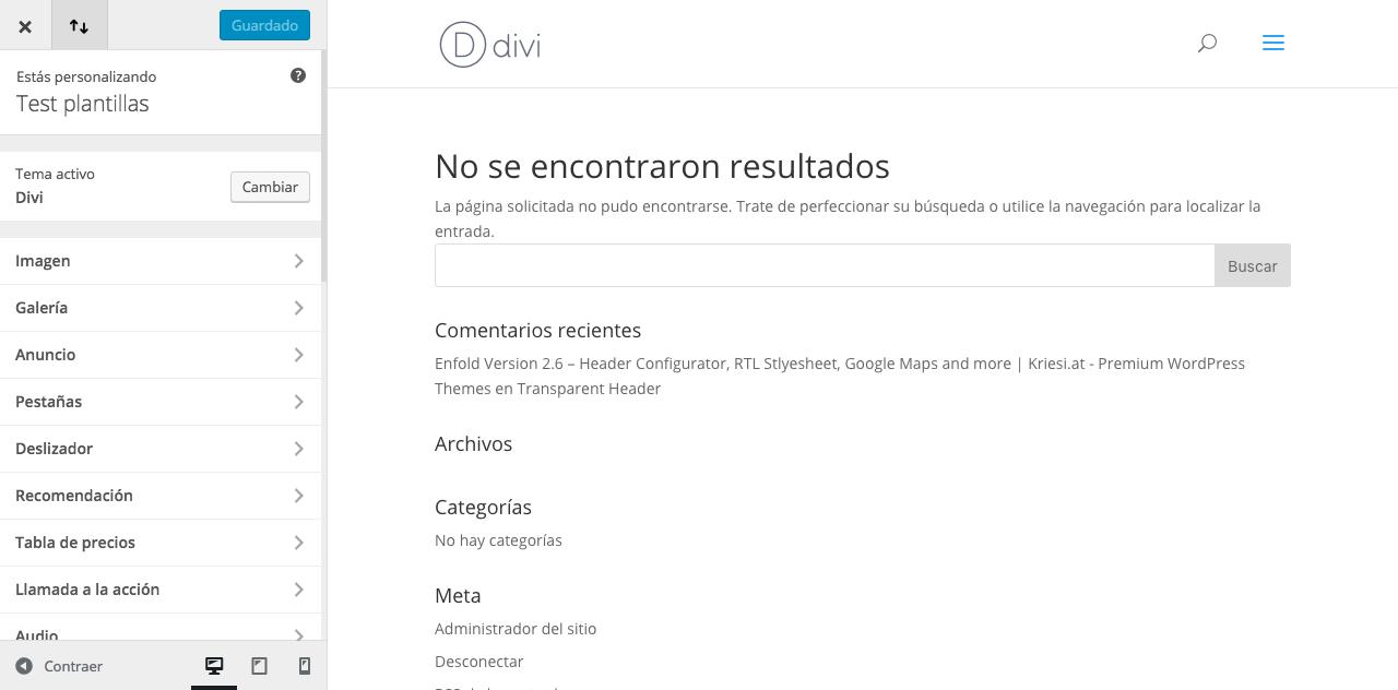 Personalizador de módulos de Divi
