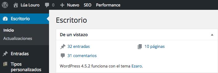 Versión de WordPress